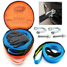 8T Heavy Duty Tow Rope  Pull Strap Winch Tree Strop 4x4 Offroad Recovery UK