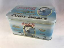 COCA-COLA COLLECTIBLE TRADING CARDS MADE IN METAL w/ POLAR BEARS Sealed Tin
