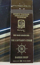 Vintage Matchbook Cover V6 Savanna Illinois Captain's Chair Barber Shop Hair