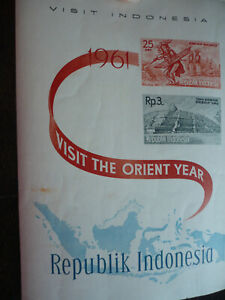 Stamps - Indonesia - Scott# 510, 516 - Souvenir Sheet Imperf
