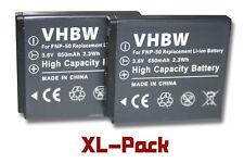 2x Akku für Fuji / Fujifilm FinePix Real 3DW3, X10 650mAh 3.6V Li-Ion