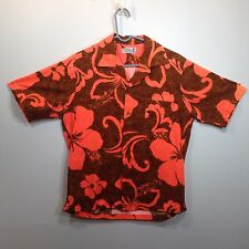 Genuine Hawaiian Aloha Shirt - Tohki Hawaii - M - blaze orange camo true vintage