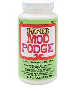 Mod Podge Paper Gloss - Glue, Sealer & Finish 473ml (16oz)