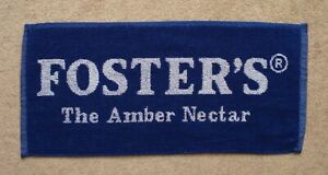 Foster's The Amber Nectar Lager Beer Bar Towel Pub Home Bar Man Cave New Unused