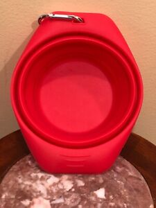 Kurgo Collaps-A-Bowl Dog Cat Pet Travel Portable Water Food Bowl - Red
