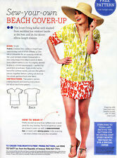 Loose KAFTAN TOP BEACH COVER-UP TUNIC Prima Sewing Pattern 10 12 14 16 18 20