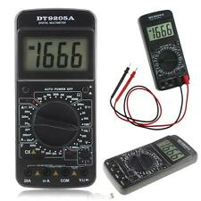 DT9205A LCD Digital Multimeter AC/DC Ammeter Resistance Capacitance Tester Meter