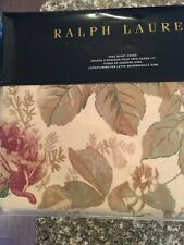 RALPH LAUREN Archival Collection  KING DUVET COVER Wilton Rose Floral NEW