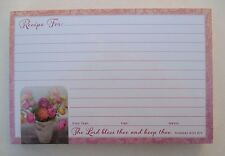 Colorful vase flower 50 Lined Recipe Cards 4x6 Legacy paper Bridal shower gift
