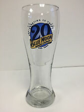 Blue Moon Beer 20th Anniversary Pilsner Glass 16 Ounce ~ NEW & FREE SHIPPING