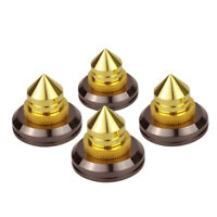 4x/set Golden Speaker Spikes CD Audio Amplifier Turntable Isolation Copper Feet