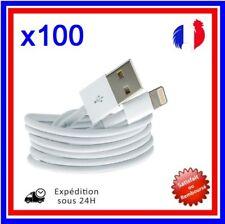 CÂBLE CORDON CHARGEUR USB IPHONE 5 5S 5C 6 6+ iOS7 iOS8 IPOD (LOT DE 100)