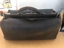 Vintage Antique Leather Gladstone Bag Doctors With Original Inner Lining