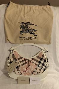 100% Genuine Burberry Patent Nova Check Stars Small Hobo Bag BNWT with Dust bag