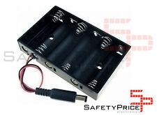 Portapilas Battery holder 6xAA Porta 6 Pilas LR06 AA conector DC Arduino SP