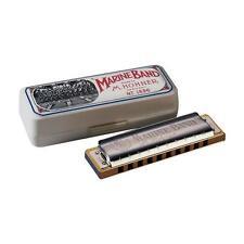 HOHNER MARINE BAND DIATONIC 10-HOLE HARMONICA MODEL1896 KEY OF C w/FREE MINI 38C