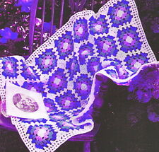 Vintage Crochet pattern-how disponer de un fácil Abuela Plaza cuna manta, tirar