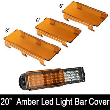 "20"" Inch Snap on Amber LED Light Bar Lens Cover for Jeep Truck Offroad ATV 120W"