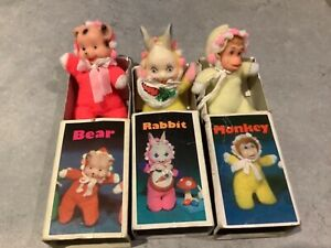 1980's Vintage Baby William Matchbox Doll - 3 x Zoo series