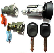 Ford Ignition Switch Lock Cylinder + 2 Door Lock Cylinder W/2 Transponder Keys