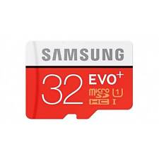 Samsung 32GB Micro SD SDHC EVO Plus 80mbps Class 10 TF Memory Card Adapter