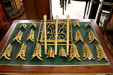 A SUPERB COLLECTION OF 100 GILT METAL MOULDINGS FROM THE SS DUTCHESS OF BEDFORD