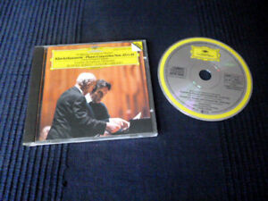 CD MOZART Piano Concertos 25 & 19 Rudolf Serkin Abbado DG W-Germany full silver