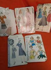 VINTAGE '40'S-'50'S LADIES SZ 16 SEWING DRESS PATTERNS