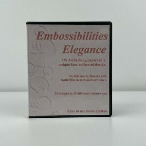 Embossibilities Elegance CD ROM by Sharon Duncan Crafts