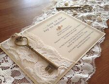 NEW Vintage chiave del mio cuore nozze/sera inviti. x50