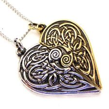 Tristan and Iseult Broken Heart Pendant Necklace Lost Treasures of Albion LT13