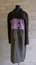 Marni Finest Quality Three Colour Full Length Suede Fabulous Coat Size IT 44