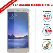 100% Genuine Tempered Glass Screen Film Protector Cover For Xiaomi Redmi Note 3