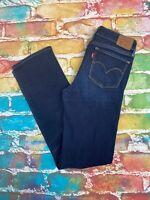 AP39 Levis 714 Straight Leg Ladies Blue Jeans  Waist 27 Leg 32