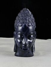 "ANTIQUE NATURAL BLUE JADE BUDDHA HEAD 6""  4000 CARATS GEMSTONE STATUE HOME DECOR"