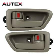 Pair Set Beige Interior Left Right Door Handle For Toyota Camry 1997-2001
