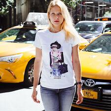 Women's T-Shirt w/ Print of Classic Russian Poet Marina Tsvetaeva as a Hipster