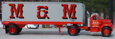 M & M TRANSPORTATION B MACK TRACTOR TRAILER 14 INCHES LONG BIG RIG - FIRST GEAR