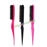 Fashion Style Teasing Back Hair Salon Brush Tangle Combing Extension Slim Line