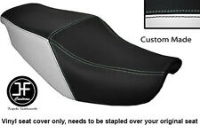 BLACK & WHITE VINYL CUSTOM FITS HONDA CBR 1000 F 87-88 DUAL SEAT COVER ONLY
