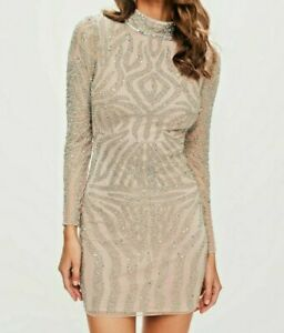 Peace and Love premium nude embellished Dress / Vestito -60% STOCK