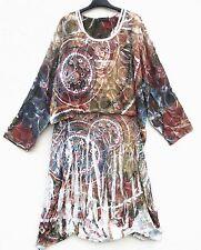 Sarah SANTOS beuliges PALLONCINO ABITO VESTITO DRESS ROBE VESTIDO XL 48 50 Lagenlook