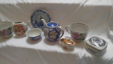 Lot Of 8 Varies Old China Porcelain Dish, Cups, Music Box Etc !!