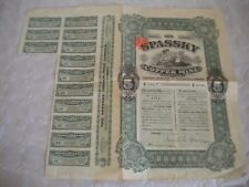 Vintage share certificate Stocks Bonds action Spassky Copper Mine 1912