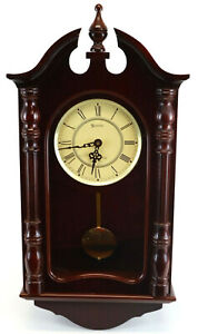 Stately Spectacular Stratford Pendulum Westminster Chime Wall Clock Works Great