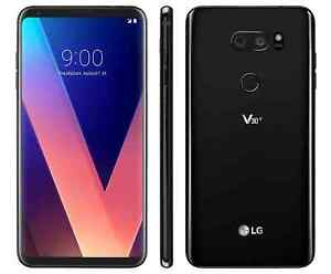 LG V30 Plus ThinQ LS998 128GB Sprint Wireless OR GSM Unlocked Smartphone - Black