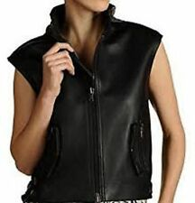 Zip Leather Casual Coats & Jackets Gilet for Women