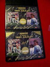 1993 SPECTRUM COLLECTORS CLUB EDIT LE TROY AIKMAN QUARTERBACK CLUB TRIBUTE SHEET