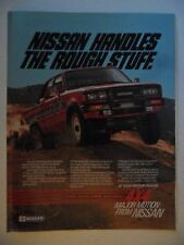 1984 Print Ad Datsun Nissan 4x4 Truck Automobile ~ Handles the Rough Stuff