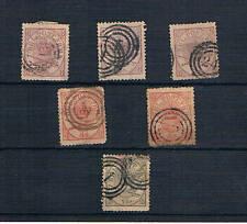Dinamarca. Conjunto de 6 sellos clásicos